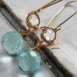 Breezy Earrings - Quartz and Gold