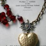 Amalia Necklace - Vintage Glass, Br..