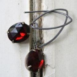 Ruby Red JEWEL Earrings