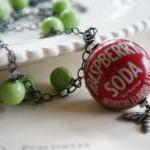 Fanta Raspberry Bottle Cap Necklace..