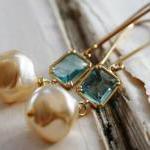 Brynn Earrings - Vintage Glass Pear..