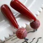 Pepperpot Earrings - Rusty Red Quar..